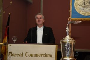 Begrüßung der Gäste durch Bruder Bernd Mahn