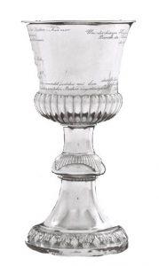 Pokal von 1833, Silber - innen vergoldet. Herstellung: Schmalfeld, Stade