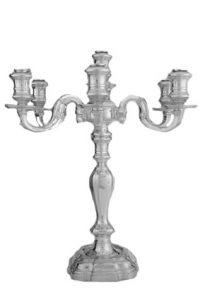 Leuchter, Silber, 6-armig gestiftet 2001 von Heinrich Waller und Günter Trabandt