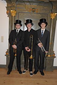 Die Trompeter für den Einmarsch der Brüder
